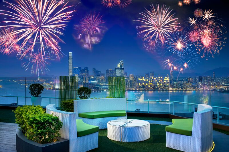 chinese new year fireworks hong kong 2017 rooftop